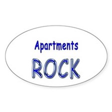 Apartments Rock Oval Decal