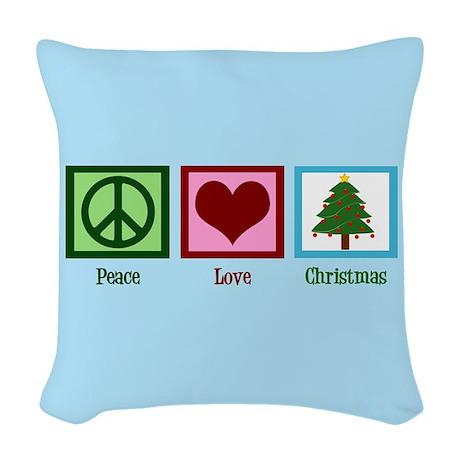 Woven Blue Throw Pillow : Christmas Baby Blue Woven Throw Pillow by giftsofgrace