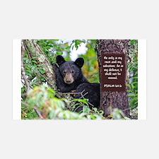 Baby Black Bear - Psalms 62-6 Wall Decal