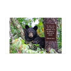 Baby Black Bear - Psalms 62-6 Wall Decal