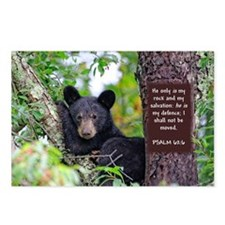 Baby Black Bear - Psalms 62-6 Postcards (Package o