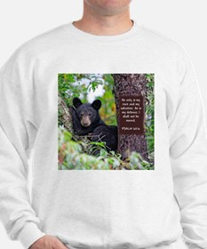 Baby Black Bear - Psalms 62-6 Sweatshirt