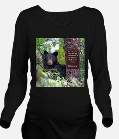 Baby Black Bear - Psalms 62-6 Long Sleeve Maternit