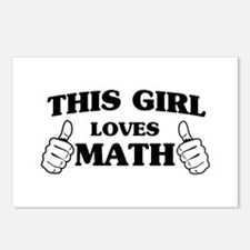 This girl loves math Postcards (Package of 8)