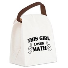This girl loves math Canvas Lunch Bag