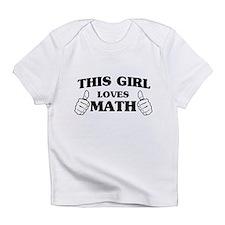 This girl loves math Infant T-Shirt