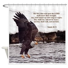 ISAIAH 40:31 WINGED EAGLES Shower Curtain
