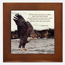 ISAIAH 40:31 WINGED EAGLES Framed Tile