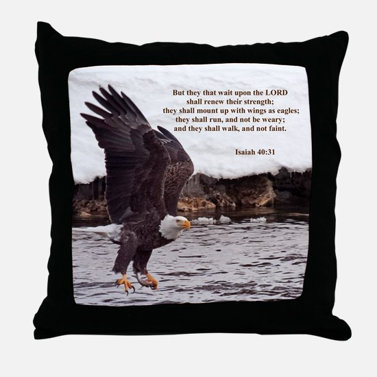 ISAIAH 40:31 WINGED EAGLES Throw Pillow