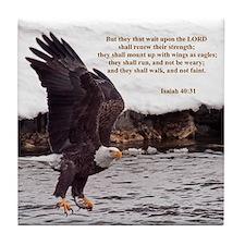 ISAIAH 40:31 WINGED EAGLES Tile Coaster