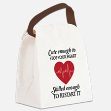 cute enough skilled enough Canvas Lunch Bag