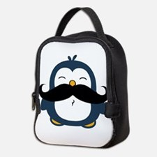 Mustache Penguin Trend Neoprene Lunch Bag