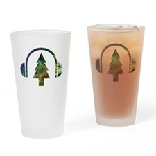 tree logo dark Drinking Glass
