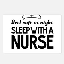 Sleep with a nurse safe Postcards (Package of 8)