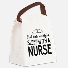 Sleep with a nurse safe Canvas Lunch Bag
