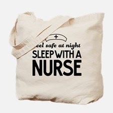 Sleep with a nurse safe Tote Bag