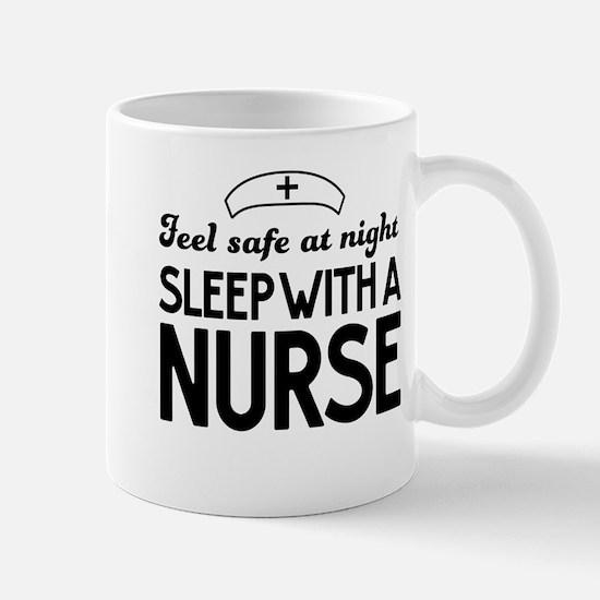 Sleep with a nurse safe Mugs