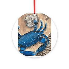 Crab and Scallop Ornament (Round)