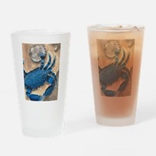 Crab and Scallop Drinking Glass