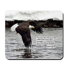 Wings of Eagles with Isaiah 40:31 Mousepad