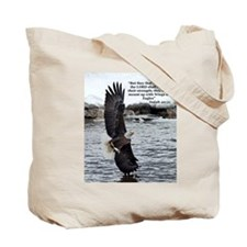 Wings of Eagles with Isaiah 40:31 Tote Bag