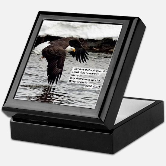 Wings of Eagles with Isaiah 40:31 Keepsake Box