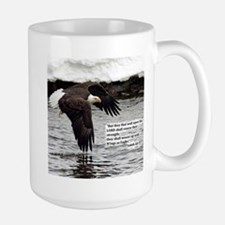 Wings Of Eagles With Isaiah 40:31 Mugs