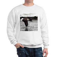 Wings of Eagles with Isaiah 40:31 Sweatshirt