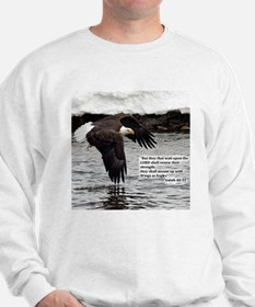 Wings of Eagles with Isaiah 40:31 Sweatshirt