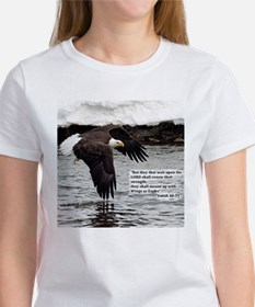 Wings of Eagles with Isaiah 40:31 T-Shirt