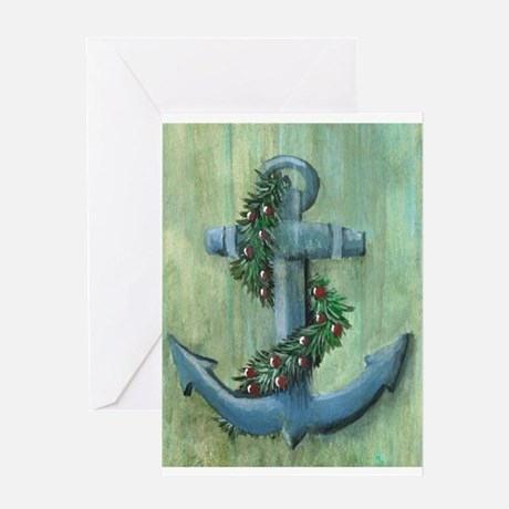 Anchor And Garland Greeting Cards