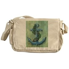 Anchor and Garland Messenger Bag