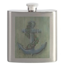 Anchor and Garland Flask