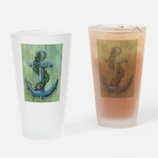 Anchor and Garland Drinking Glass