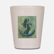 Anchor and Garland Shot Glass