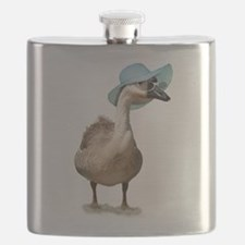 Beach Goose with Summer Hat Flask