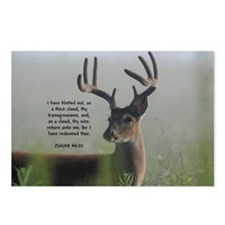 Return Unto Me Buck - Isaiah 44:22 Postcards (Pack
