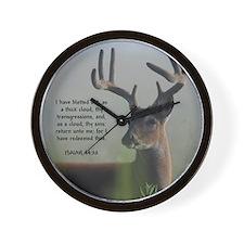 Return Unto Me Buck - Isaiah 44:22 Wall Clock