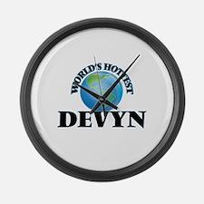 World's Hottest Devyn Large Wall Clock