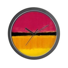 ROTHKO YELLOW BLACK MAGENTA Wall Clock