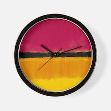 ROTHKO YELLOW BLACK MAGENTA Wall Clock