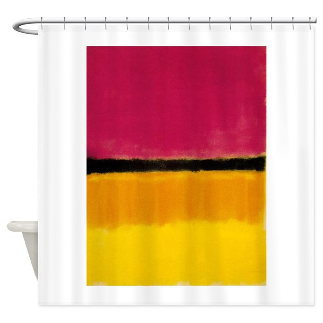 rothko yellow black magenta shower curtain by thingscollectable. Black Bedroom Furniture Sets. Home Design Ideas