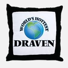 World's Hottest Draven Throw Pillow