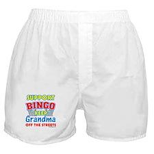 Support Bingo Grandma Boxer Shorts