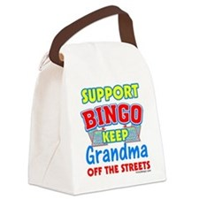 Support Bingo Grandma Canvas Lunch Bag