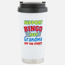Support Bingo Grandma Travel Mug