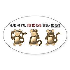 Hear No Evil... Rectangle Decal