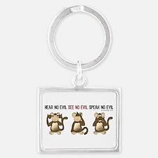 Hear No Evil monkeys Keychains