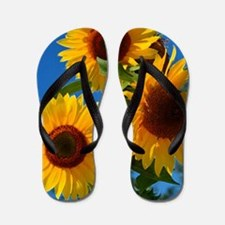 Cute Sunflower Flip Flops
