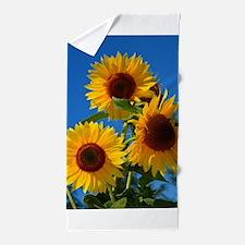 Cute Sunflower Beach Towel